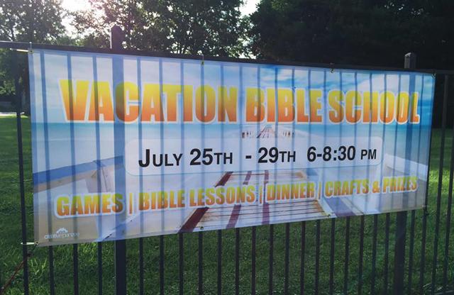 Trinity Baptist Church, vacation bible church, banner