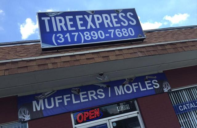 Tire Express, Digital print, backlit media
