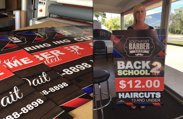 Southport Barber Shop, digital print, mount